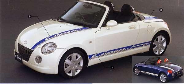 『コペン』 純正 L880 ストライプ(スポーティロゴ)(サイド部) パーツ ダイハツ純正部品 copen オプション アクセサリー 用品