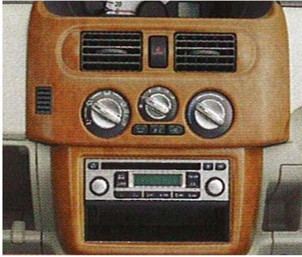 『ekワゴン』 純正 H81 センターパネル上下段セット(黄色木目調) パーツ 三菱純正部品 オプション アクセサリー 用品