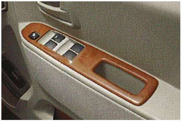 『ekワゴン』 純正 H81 ドアスイッチパネル(黄色木目調) パーツ 三菱純正部品 内装ベゼル パワーウィンドウパネル オプション アクセサリー 用品
