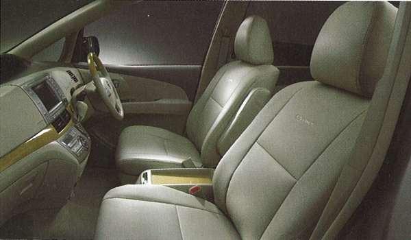 『エスティマ』 純正 ACR50 革調シートカバー グレージュ パーツ トヨタ純正部品 座席カバー 汚れ シート保護 estima オプション アクセサリー 用品