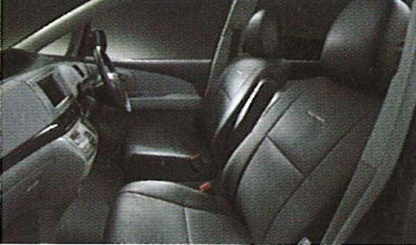 『エスティマ』 純正 ACR50 革調シートカバー ブラック パーツ トヨタ純正部品 座席カバー 汚れ シート保護 estima オプション アクセサリー 用品