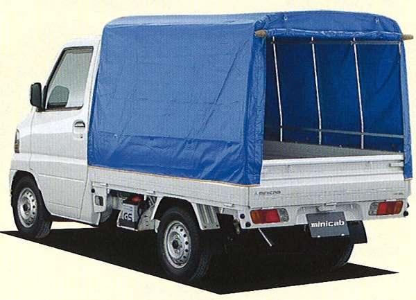 『ミニキャブ』 純正 U61 幌ハイルーフ 一方開 パーツ 三菱純正部品 ホロ トラック幌 MINICAB オプション アクセサリー 用品