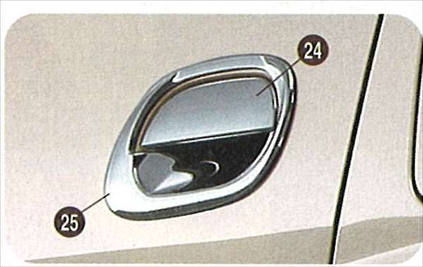 『ミラ』 純正 L250 メッキアウターハンドルガーニッシュ(5ドア車用) 写真25のみ パーツ ダイハツ純正部品 メッキ ドアノブ カスタム エアロパーツ mira オプション アクセサリー 用品