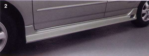 『カローラフィールダー』 純正 NZE121 NZE124 サイドマッドガード フィールダー fielder nze121/124 ZZE122/123/124 パーツ トヨタ純正部品 サイドスポイラー カスタム エアロパーツ fielder オプション アクセサリー 用品