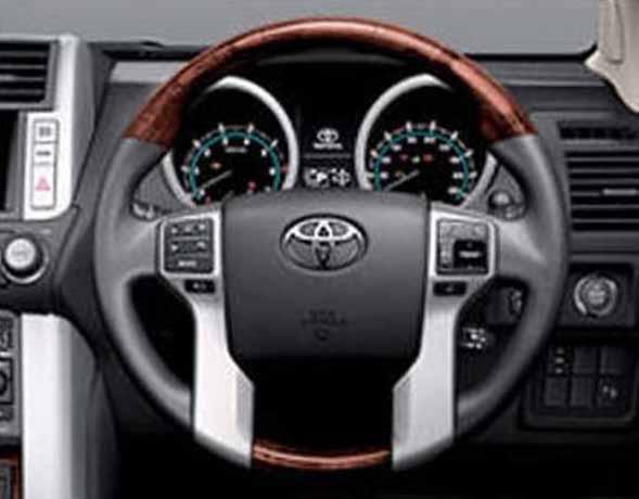 『ランドクルーザープラド』 純正 TRJ150 ウッド調ステアリング パーツ トヨタ純正部品 landcruiser オプション アクセサリー 用品