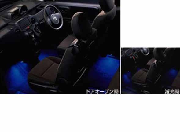 インテリアイルミネーション(スイッチキット別売り rtyt055) 2モードタイプ ブルー スペイド NCP141 NCP145 NSP140 トヨタ純正 照明 明かり ライト spade パーツ 部品 オプション