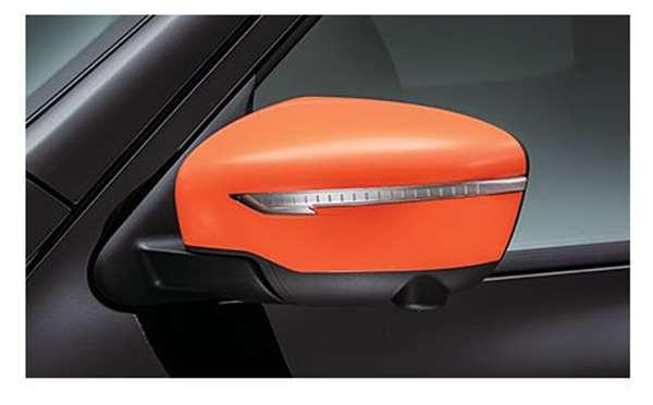 ドアミラーカバー *ディーラーオプション専用色:オレンジレーシング ジューク YF15