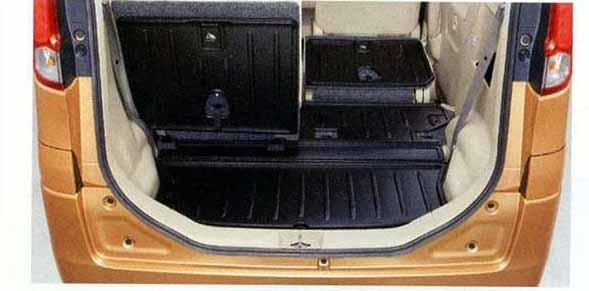 『スペーシア』 純正 MK32S ラゲッジマット(シート背裏あり) パーツ スズキ純正部品 ラゲージマット 荷室マット 滑り止め spacia オプション アクセサリー 用品