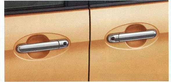 ドアハンドルガーニッシュ 1台分4枚セット スペーシア MK32S スズキ純正 メッキ ドアカバー ドアノブ パネル spacia パーツ 部品 オプション