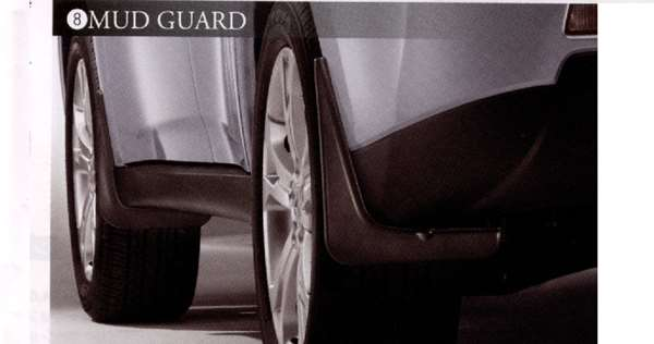 『アウトランダー』 純正 GG2W マッドガード フロント/リヤ左右セット パーツ 三菱純正部品 outlander オプション アクセサリー 用品