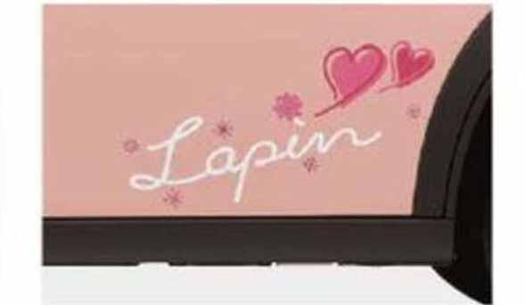 サイドデカール ガーリーエレガント *ステッカーのみ ラパン HE33S スズキ純正 ステッカー シール ワンポイント lapin パーツ 部品 オプション