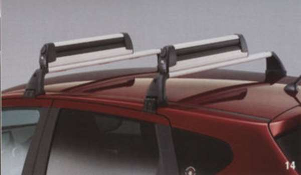 ベースキャリア ブラック(スチール製) MRK30 デュアリス KJ10 KNJ10 日産純正 キャリアベース ルーフキャリア DUALIS パーツ 部品 オプション