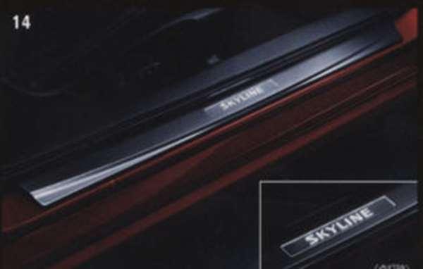 キッキングプレート(ステンレス製) 50UP0 スカイラインクーペ v35