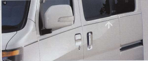 サイドピンモール アトレー S321G S331G ダイハツ純正 メッキ atrai パーツ 部品 オプション