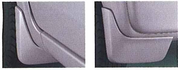 『ラパン』 純正 HE21 マッドフラップセット G、X、MODE、TUrbo用 パーツ スズキ純正部品 マッドガード マットガード 泥よけ lapin オプション アクセサリー 用品