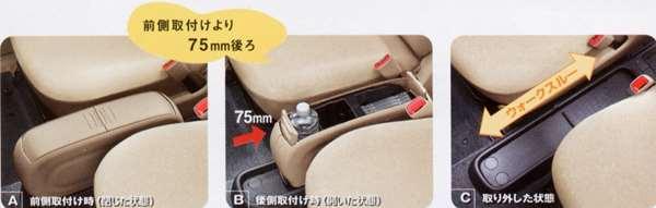 『シエンタ』 純正 NCP81 コンソールボックス脱着式 パーツ トヨタ純正部品 フロアコンソール センターコンソール sienta オプション アクセサリー 用品