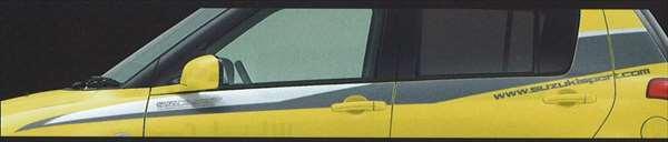 ボディグラフィック(ホワイト/ガンメタ) スイフト ZC11 ZC21 ZC31 スズキ純正 ステッカー シール ワンポイント swift パーツ 部品 オプション