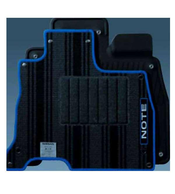 デュアルカーペット(フロアカーペット(消臭機能付)ブラック+ラバーマット:1台分 HRR22 ノート HE12 E12 NE12