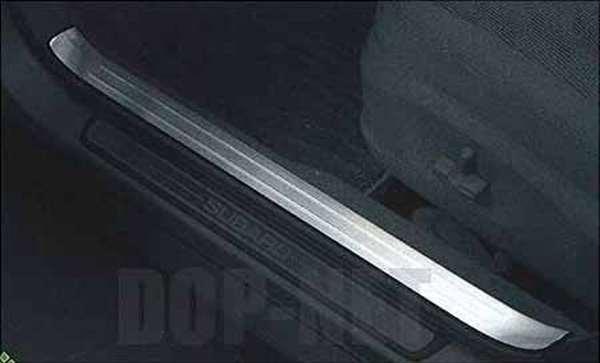 スカッフプレートカバーフロントセット WRX STI GVB GVF GRB GRF スバル純正 ステップ 保護 プレート パーツ 部品 オプション