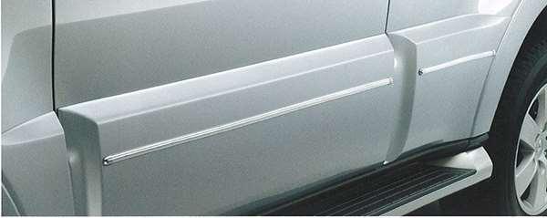 サイドドアガーニッシュモール SUPER EXCEED用、ZRを除くロング パジェロ V97 V93 三菱純正 PAJERO パーツ 部品 オプション