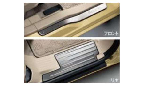 『スペーシア カスタムZ』 純正 MK42S サイドシルスカッフ パーツ スズキ純正部品 ステップ 保護 プレート オプション アクセサリー 用品
