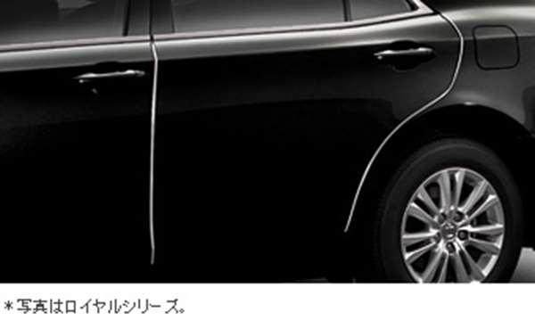 『クラウンアスリート』 純正 AWS210 ドアエッジプロテクター ステンレス製1台分セット パーツ トヨタ純正部品 ドアモール ドアエッジモール crown オプション アクセサリー 用品