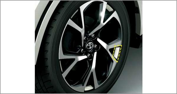 『C-HR』 純正 ZYX10 NGX50 ホイールアクセントデカール パーツ トヨタ純正部品 ステッカー シール ワンポイント オプション アクセサリー 用品