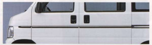 『アクティ』 純正 HH5 HH6 ボディサイドモール(クロームメッキ) パーツ ホンダ純正部品 サイドガーニッシュ サイドパネルワンポイント エアロパーツ acty オプション アクセサリー 用品