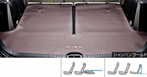 『ウィッシュ』 純正 ZGE20 ZGE25 ロングラゲージマット タイプ1 パーツ トヨタ純正部品 ラゲッジマット トランクマット 滑り止め wish オプション アクセサリー 用品