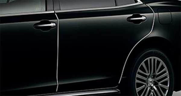 『クラウンマジェスタ』 純正 GWS214 AWS215 ドアエッジプロテクター ステンレス製1台分セット パーツ トヨタ純正部品 ドアモール ドアエッジモール crown オプション アクセサリー 用品