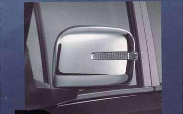 メッキ ドアミラーカバー(LEDサイドターンランプ付ドアミラー用) ☆ ワゴンR MH23S