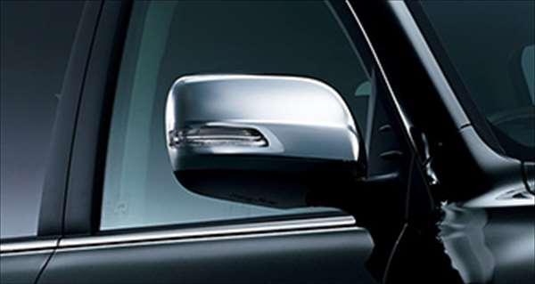 『ランドクルーザー200』 純正 URJ202W メッキドアミラーカバー メッキミラーステー パーツ トヨタ純正部品 サイドミラーカバー カスタム landcruiser オプション アクセサリー 用品
