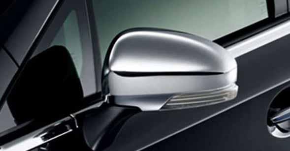 『プリウスα』 純正 ZVW41W メッキ ドアミラーカバー パーツ トヨタ純正部品 サイドミラーカバー カスタム prius オプション アクセサリー 用品