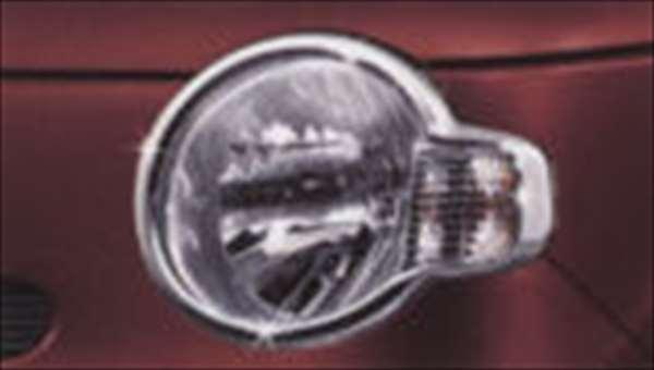 ヘッドランプガーニッシュ(メッキ) ミラココア L675S L685S