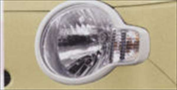 ヘッドランプガーニッシュ(パールホワイト) ミラココア L675S L685S