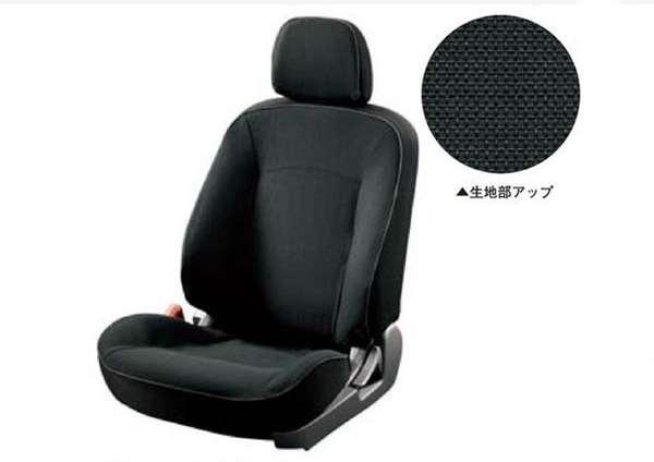 シートカバー ブラック *サイドエアバック装着車 MZ501711 ギャランフォルティス CY4A