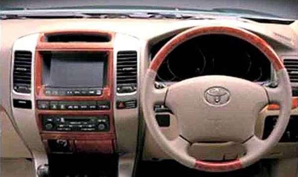 『ランドクルーザープラド』 純正 KDJ125 ウッド調ステアリング パーツ トヨタ純正部品 landcruiser オプション アクセサリー 用品
