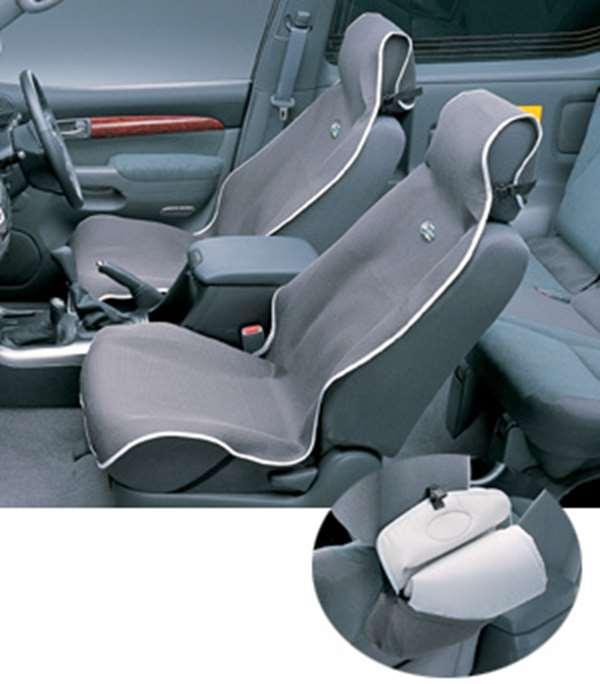 『ランドクルーザープラド』 純正 KDJ125 シートエプロン1枚 グレー パーツ トヨタ純正部品 汚れから保護 セミシートカバー landcruiser オプション アクセサリー 用品
