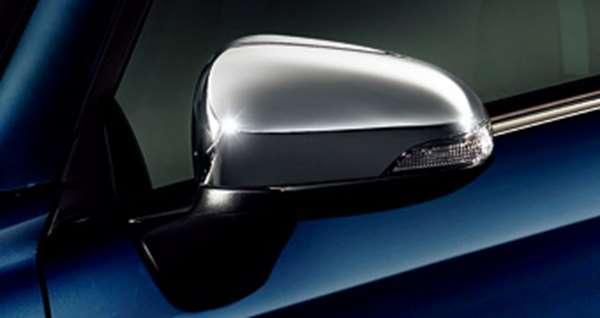 『カローラアクシオ』 純正 NKE165 NRE161 NZE161 NRE160 NZE164 メッキドアミラーカバー パーツ トヨタ純正部品 サイドミラーカバー カスタム axio オプション アクセサリー 用品