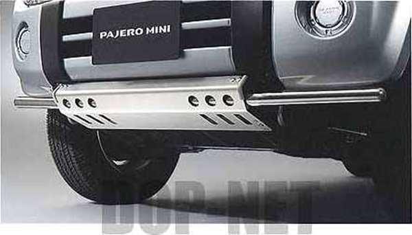 『パジェロミニ』 純正 H58A H53A フロントスキッドプレート(アンダーバー付) パーツ 三菱純正部品 エアロパーツ カスタムフロントスポイラー カスタム エアロパーツ PAJERO オプション アクセサリー 用品
