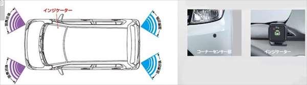 『ワゴンR』 純正 MH34S コーナーセンサー フロント2センサー+リヤ2センサー パーツ スズキ純正部品 危険察知 接触防止 セキュリティー wagonr オプション アクセサリー 用品