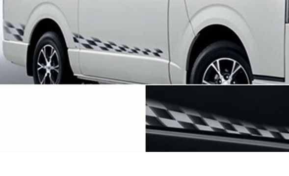 『ハイエース』 純正 KDH201V ストライプテープ タイプ1 パーツ トヨタ純正部品 ステッカー シール ワンポイント hiace オプション アクセサリー 用品