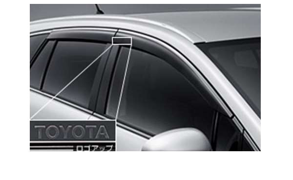 『アベンシスワゴン』 純正 ZRT272W サイドバイザー ベーシック パーツ トヨタ純正部品 ドアバイザー 雨よけ 雨除け avensis オプション アクセサリー 用品