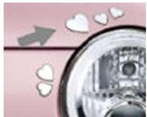 ミラココア 純正 L675S お気に入 フロントデカール ハート ふるさと割 パーツ ダイハツ純正部品 ステッカー miracocoa アクセサリー ワンポイント オプション 用品 シール