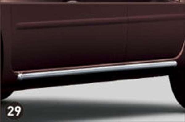 【ミラココア】純正 L675S サイドロッカーモール パーツ ダイハツ純正部品 メッキ miracocoa オプション アクセサリー 用品