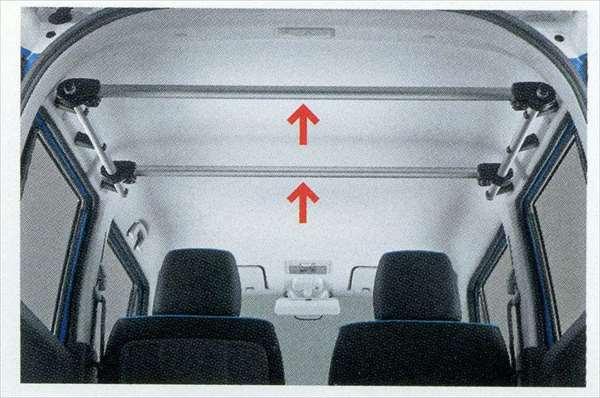 『ハスラー』 純正 MR31S マルチルーフバー(センター)2本セット パーツ スズキ純正部品 車内 棒 hustler オプション アクセサリー 用品