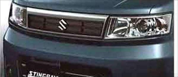 『ワゴンR』 純正 MH22 フロントグリル パーツ スズキ純正部品 メッキ 飾り カスタム エアロ wagonr オプション アクセサリー 用品