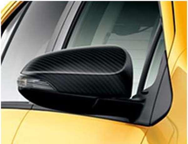 flor012 『アクア』 純正 NHP10 ドアミラーカバー カーボン調 パーツ トヨタ純正部品 サイドミラーカバー カスタム aqua オプション アクセサリー 用品