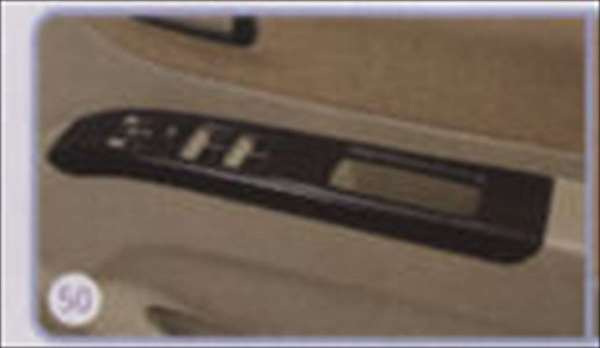 パワーウインドースイッチベゼル ピアノブラック調 パレット MK21S