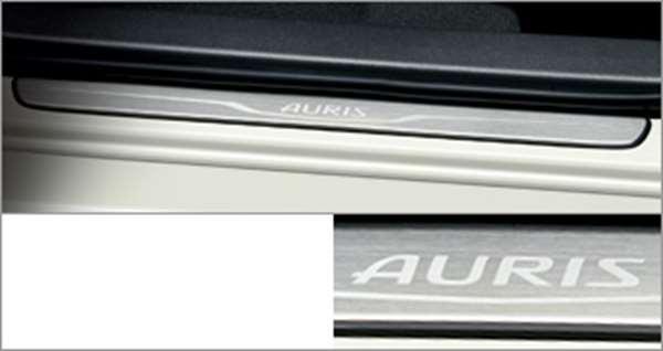 『オーリス』 純正 ZWE186 NRE185 ZRE186 NZE181 NZE184 スカッフプレート パーツ トヨタ純正部品 ステップ 保護 プレート auris オプション アクセサリー 用品